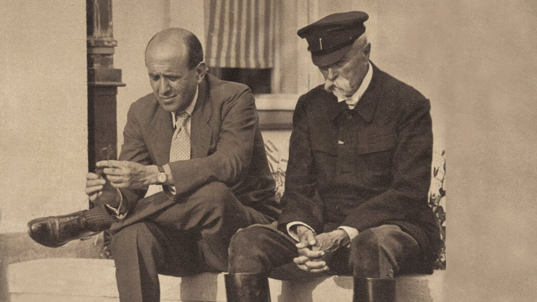 Tomas Garrigue Masaryk and his son, Jan Masaryk, who died in mysterious circumstances