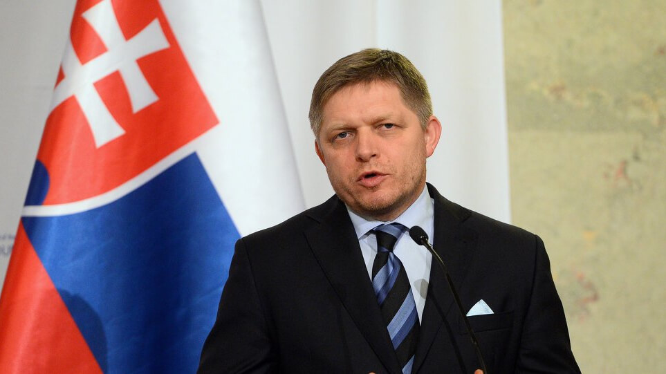 Robert Fico during a press conference in Bratislava