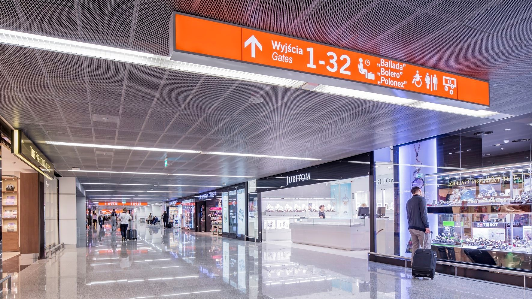 Transit zone of the Warsaw Chopin Airport in Poland